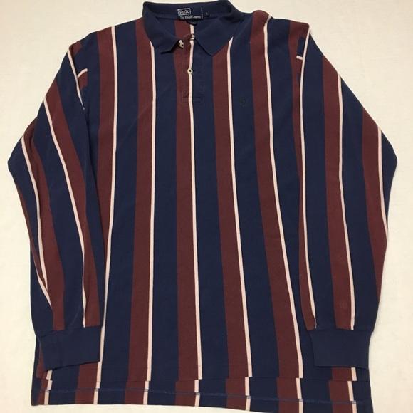 09f8d580 Vintage polo Ralph Lauren striped logo polo shirt.  M_5aadd1529d20f00e092e1392